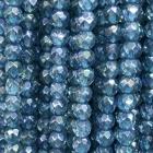 facettierte Kugelkette Aqua Aura ca. 40 cm