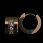 EO16 Silber rosé vergoldet mit Zirkonia 8 mm