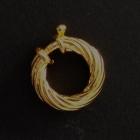 V106 Silber vergoldet poliert