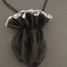 Organza Beutel black