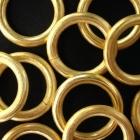 Ösen gelötet Silber vergoldet matt