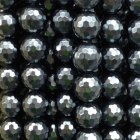 Facettierte Kugelkette Muschelkern grau ca. 40 cm