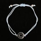 KS20 Stoffarmband hellblau Herz 10 mm Silber rhodiniert