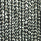 facettierte Kugelkette Hämatit bedampft ca. 40 cm