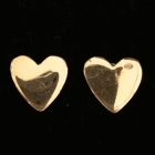 OH106 Herz Silber vergoldet 8x8 mm