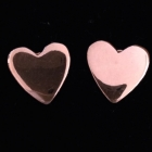 OH106 Herz Silber rosé vergoldet 8x8 mm