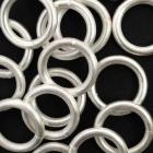 Ösen gelötet Silber matt