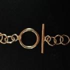 V109 Knebelverschluss Silber vergoldet poliert