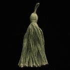 Stoffquaste Baumwolle grün 55 mm