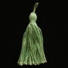 Stoffquaste Baumwolle lindengrün 55 mm
